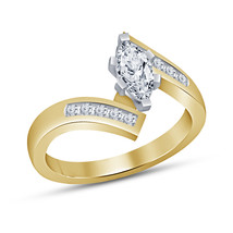 Marquise Cut Diamond Womens Wedding Engagement Ring 925 Sterling Solid Silver - $68.99