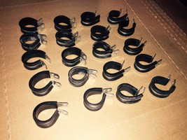 STEEL CLAMP LOOP TYPE CUSHIONED STAINLESS 20 Count image 1