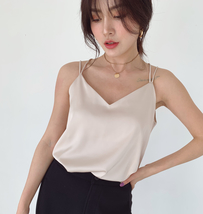 V-Neck Sleeveless Chiffon Tank Top Summer Women's Chiffon Sleeveless Top Blouse image 11