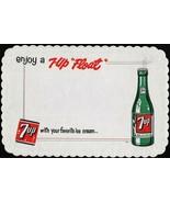 Vintage placemat ENJOY A 7 UP FLOAT bubble girl bottle pictured unused n... - $7.19