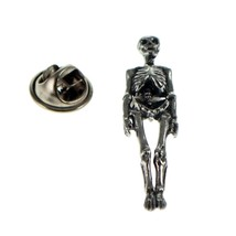 Skeleton british pewter Badge Lapel /tie Pin Badge 3d effect with clip for rear