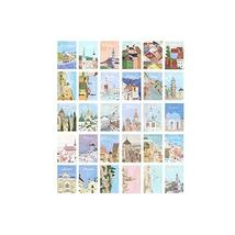 Post Cards Hand-Painted Architectural Motifs Greeting Cards Set of 30 - $16.27