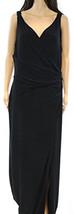Lauren Ralph Lauren NEW Black Women's Ruched Jersey Ball Gown, Black, 8 - $54.72