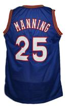 Danny Manning #25 Custom College Basketball Jersey New Sewn Blue Any Size image 2
