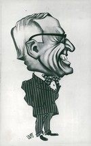 Cartoon caricature by Frenchman Maudouit representing US President Harry... - $16.61