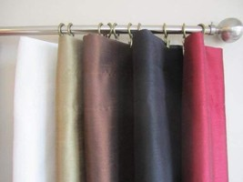 Urbanest Pair of 2 Faux Silk Drapery Curtain Panels with Lining(Two Panels), 5 C - $29.69