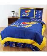 Kansas Jayhawks Comforter Sham & Pillowcase Twin Full Queen Cotton CC - $106.90+