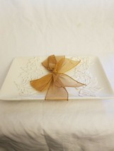 Hallmark Ceramic Serving Dish - Leaf Pattern with Bow - $2.92