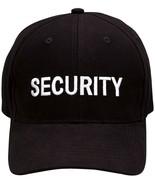 Black Security Cap Adjustable Embroidered Uniform Hat Guard Officer Agent - $9.99