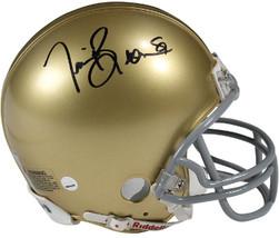 Tim Brown signed Notre Dame Fighting Irish Riddell Mini Helmet #81 (blac... - $78.95