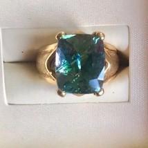 Chistick's AAA IGI 8.01ct Blue Tanzanite 14k yellow gold engagement ring... - $4,799.99