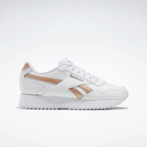 Reebok Classics Womens Royal Glide Ripple Double Shoes White and Rose Gold - $74.99