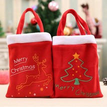 Christmas Gift Santa Bag Candy Xmas Bags Claus Party Decor Decoration Home - €4,47 EUR