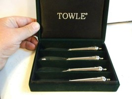 Towle Silversmith Set of 4 Silver Plate Butter Knives In Box - $14.50