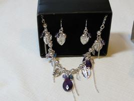 Damen Avon Perlen Wein Halskette & Ohrringe Geschenkset Violt F3599911 Nip - $15.94