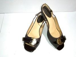 Cole Haan Women's Air Eliana Brown 7B Slingback Textured Sandal Peep Toe Shoes - $23.21