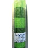 Darice Expressions Floral Mesh Plaid Green/Khaki 21in. x 10 Yds. New see... - $16.43