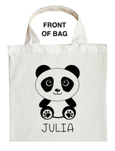 Panda Bear Trick or Treat Bag, Panda Halloween Bag, Custom Panda Bear Bag - $11.99+