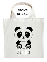 Panda Bear Trick or Treat Bag, Panda Halloween Bag, Custom Panda Bear Bag - $11.99+