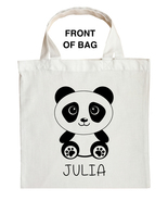 Panda Bear Trick or Treat Bag, Panda Halloween Bag, Custom Panda Bear Bag - $11.39+