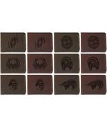 Men's Zodiac Tattoo Style Handmade Genuine Leather Flipup Window Wallet ... - $35.50