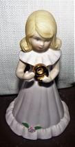 1981 Enesco Porcelain Figurine GROWING UP BIRTHDAY GIRLS Blonde Age 9 - $12.49