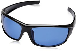 Fastrack Black Wrap Sunglasses (P223BU2|66|Blue) - $51.99