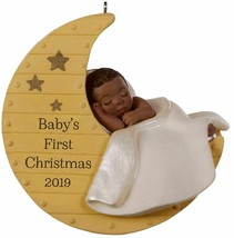 Hallmark  Baby's First Christmas  Sleeping on Moon   Keepsake Ornament 2019 - $15.83