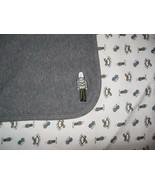 Gymboree Toy Soldier Baby Blanket Grey White Toys Blocks Rocking Horse 2000 - $34.53