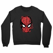 Spiderman Face Splat Adults Unisex Black Sweatshirt - $31.27