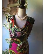 Alfani Multi-color Island Butterfly Cap Sleeve Draped Dress SZ 2 New - $38.61