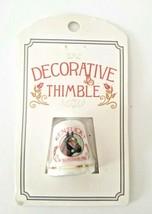 Vintage Scotty Decorative Thimble Darby Horse Kentucky Travel Souvenir NIP - $16.78