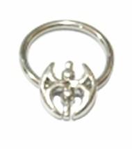 "Captive Nipple Ear Ring 14 Gauge 1/2"" w/Inca Symbol of Power Steel Body Jewelry - $7.59"