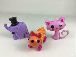 Lalaloopsy Pets 3pc Lot Elephant Kitty Cat Balloon Weiner 2009 MGA Enter... - $15.10