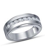 White Gold Finish Round Cut Diamond Engagement Ring Mens Wedding Pinky B... - $64.99