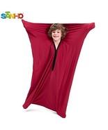 SANHO Dynamic Movement Sensory Body Sock - Updated Version, Wine red Medium - $35.98