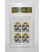 1964 Hallmark Stamps (Entire Band) Plate of 4  *Graded 10 Beatles Memora... - $19.99