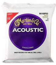 Martin M140 80/20 Acoustic Guitar Strings, Light 3 Pack - $31.94