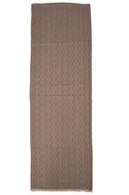 Tory Burch Womens Oak Brown Signature Logo Rectangle Silk Blend Scarf 18... - €125,82 EUR