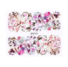 HS Store - 1Pcs WG-2121 Flower Designs Nail Sticker Water Transfer DIY - $2.23