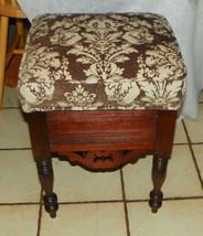 Solid Walnut Shoe Shine Box / Stool / Footstool - $399.00