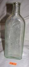 Vintage Embossed Empty Dr. Miles Medical Co. Aqua Glass Bottle-#3 - $9.50