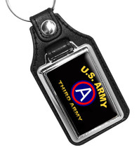 United States Army Third Army Emblem Faux Leather Key Ring - €8,92 EUR