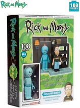 """RICK AND MORTY SMITH FAMILY GARAGE RACK 108 PC CONSTRUCTION SET 2-3"""" FIG... - $9.70"""