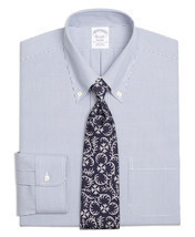 3613 Brooks Brothers Mens Blue White Striped Regent Fit Dress Shirt Sz 1... - €73,56 EUR