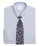 3613 Brooks Brothers Mens Blue White Striped Regent Fit Dress Shirt Sz 1... - €73,21 EUR