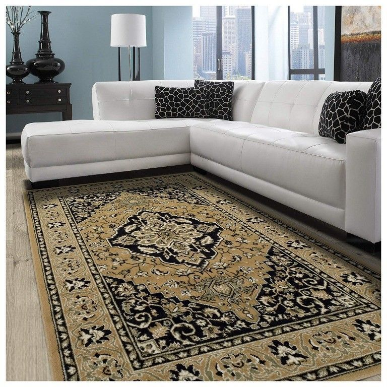 Primary image for Superior Glendale Collection Gold Oriental Design 8' x 10 ' Area Rug 8mm High