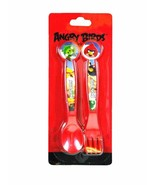 Rovio Angry Birds Red Flatware 2 forks and 2 spoons-Angry Birds Flatware... - $8.90