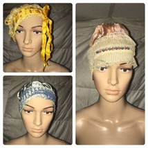 Vintage Boudoir Sleeping Bonnet Night Cap - Lot Of 3 - $46.74