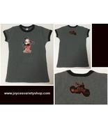 Evil Bettie Motor Wear T-Shirt Women's Sz US L NEW Motorcycle USA Gray - $8.99